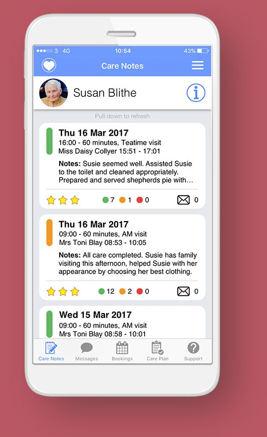 Ealing Home Care Service Provider Client App